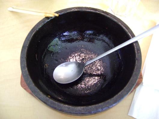 Finished! The empty Bi Bim Bap bowl. I was sooo stuffed!