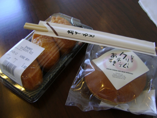 Inari Roll and Cream Cheese with Red Bean Doriyaki
