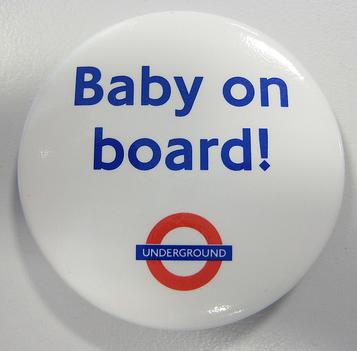 TFL Baby on Board badge