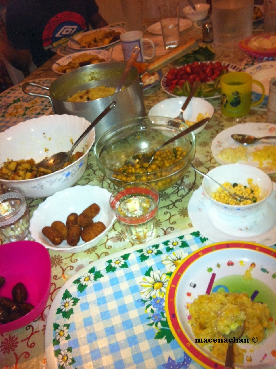 Day 8 Feast: compare this to the Day 7!