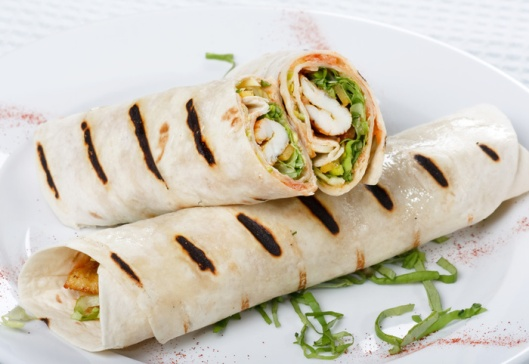 Tortilla wrap: Not as stylish as the one in the picture. Just a humble and filling one