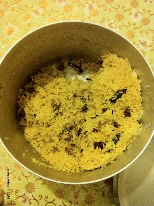 © 2012 The actual biryani and what's left of it