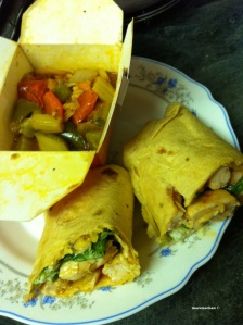 Day 18 My iftaar - Ratatouille & Chicken breast wrap