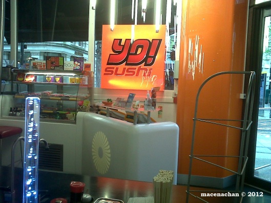 © 2012 Introduced a friend to YO Sushi