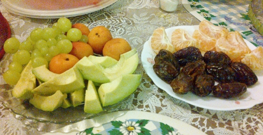We of course had mango and watermelon so once again there was our 5 a day + extra for iftaar :D