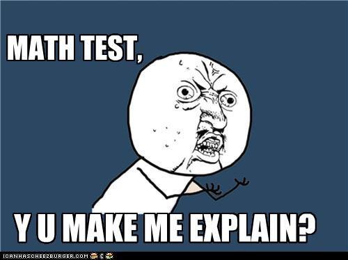 maths test meme