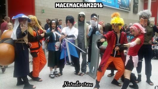 comic con Naruto crew