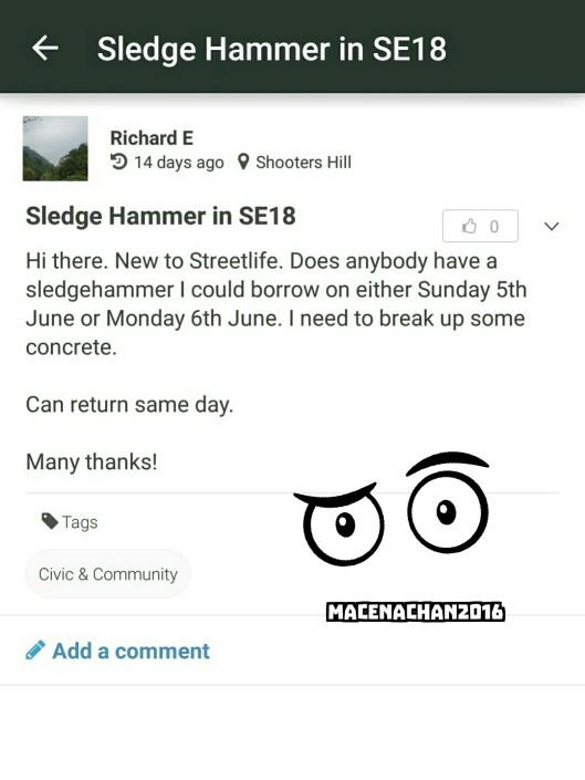 RD DAY 12 street life sledge hammer