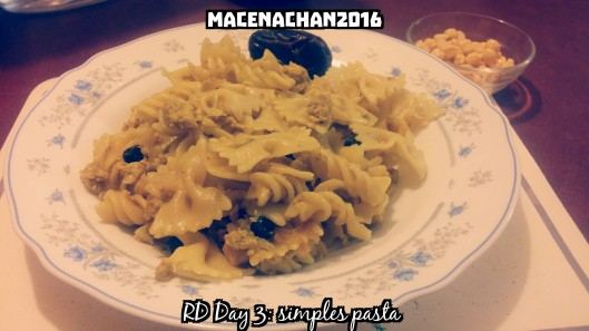 RD DAY 3 pasta
