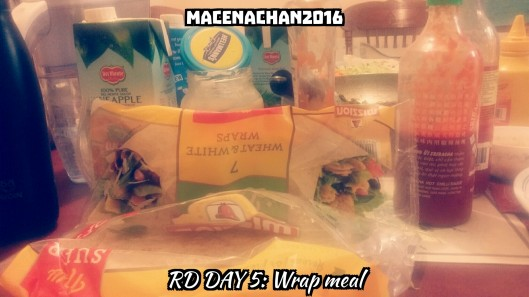 RD DAY 5 Wrap meal